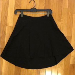 Parker black high low short skirt
